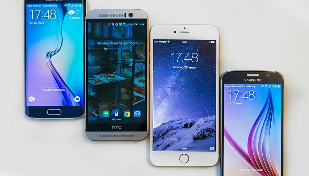 Kameraet er en viktig del av enhver mobil. Vi har testet kameraene på Samsung Galaxy S6 Edge, HTC One M9, Apple iPhone 6 Plus og Samsung Galaxy S6 mot hverandre.