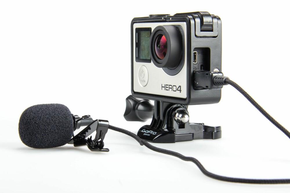 BEDRE LYD: En ekstern mikrofon vil gi deg utrolig mye bedre lyd på opptakene dine.