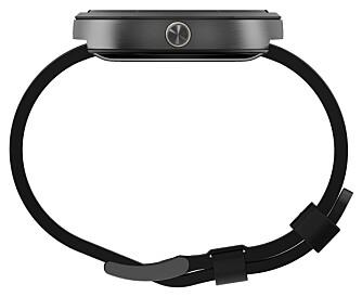FØLES TYNN: Motorola Moto 360 gir et tynt inntrykk, men er 1,15 cm tykk.