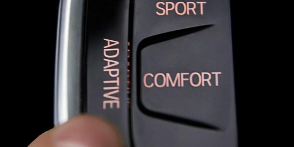 BMW STYRER: I Driving Experience Control-systemets Adaptive-innstilling leser og toller bilen underlaget og sjåførens kjørestil, og tilpasser oppsettet deretter. FOTO: BMW