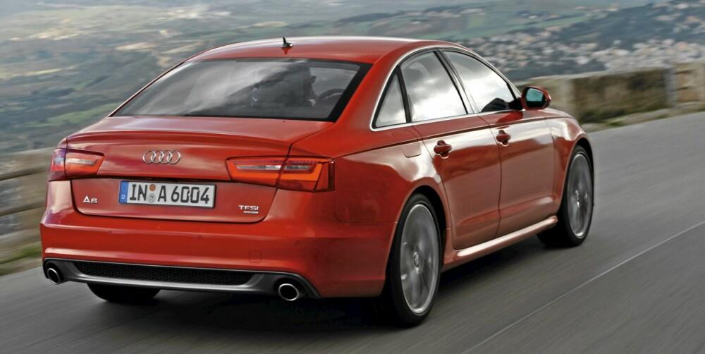 SLANKERE: Audi er stolte av at den nye A6 veier mindre enn forgjengeren. Mer enn 20 prosent av karosseriet består av aluminium, og enkelte versjoner er opptil 80 kg lettere enn tilsvarende utgaver av forgjengeren.