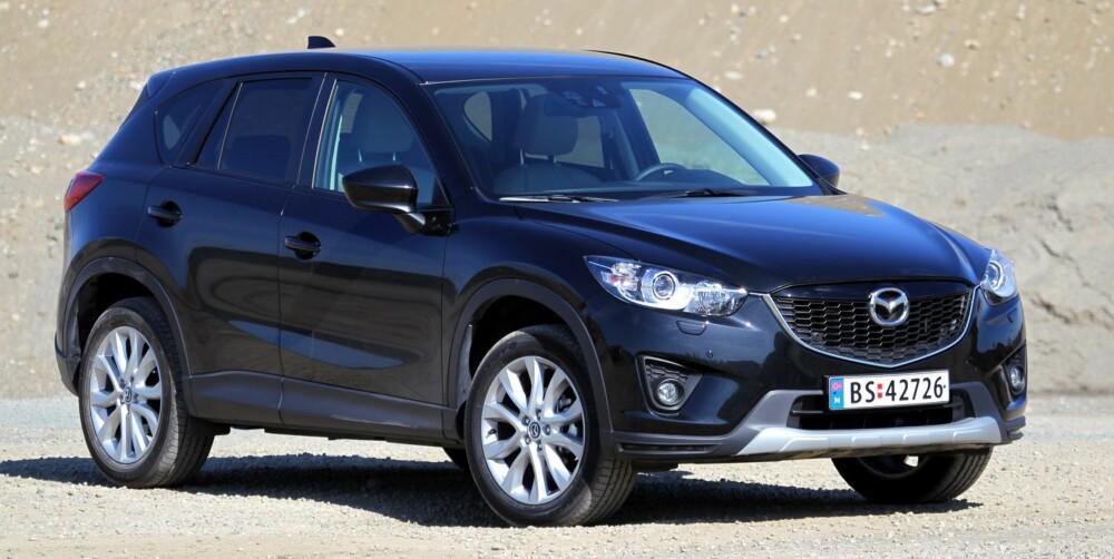 SUV-FAVORITT: Mazda traff SUV-blinken med CX-5.