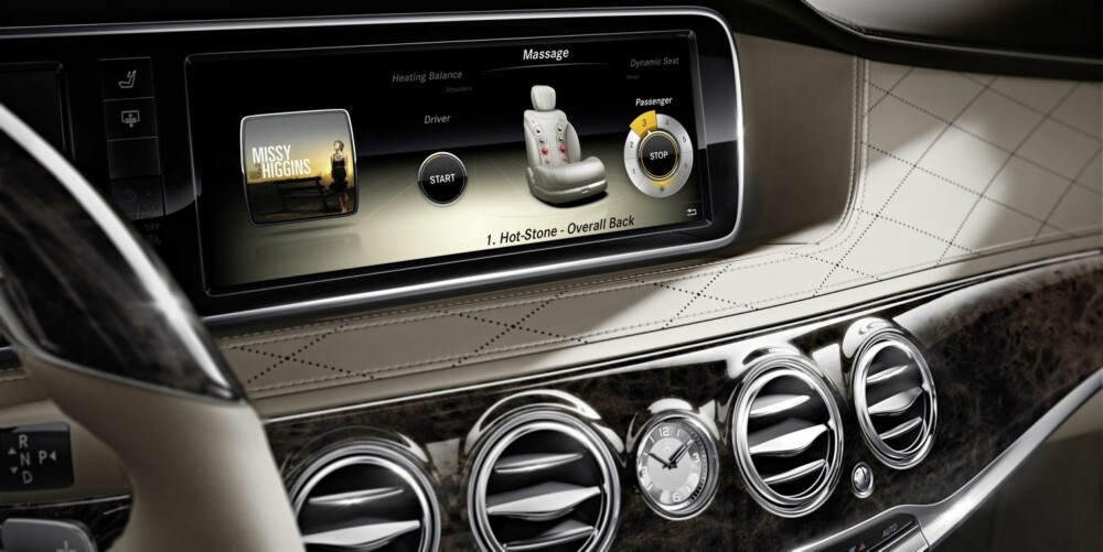 HOT STONE: 14 puter sydd inn i setet simulerer varme stener-massasje. FOTO: Daimler AG