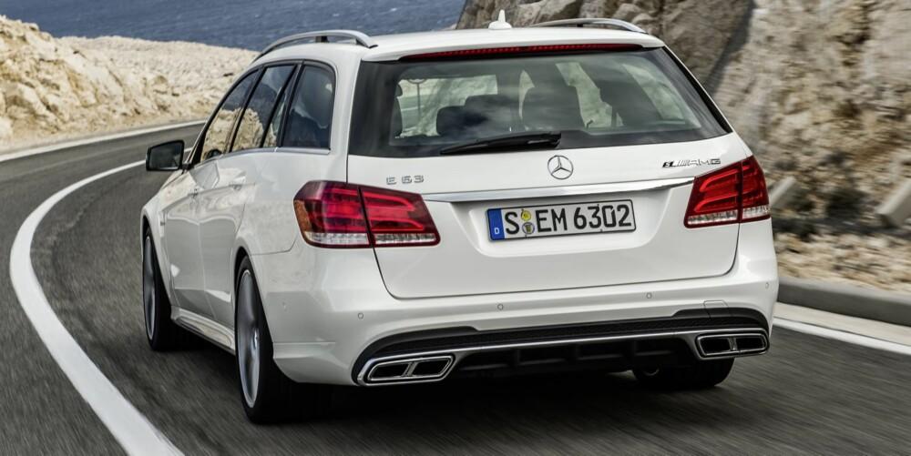 MASSE PLASS OG GASS: Mercedes E 63 AMG 4Matic S-modell. FOTO: Daimler AG