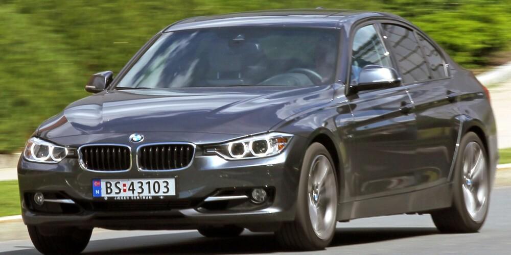 TURBOTREER: BMW 320iA er vår 3-seriefavoritt: 1997 cm³, 184 hk, 270 Nm, 0-100 km/t 7,6 sek., toppfart 235 km/t, testforbruk 0,61 l/mil. FOTO: Petter Handeland