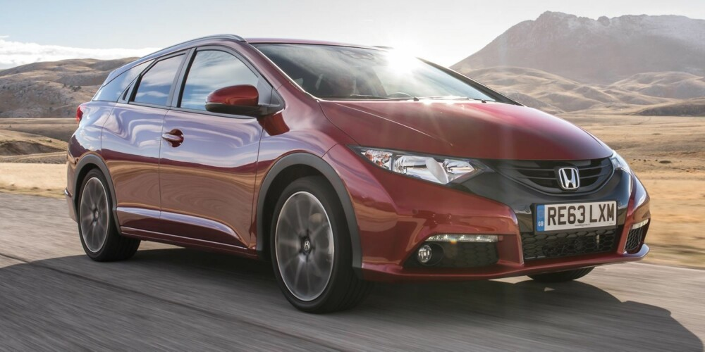 NESTE ÅR: Honda Civic Tourer er ventet til Norge tidlig neste år. FOTO: Honda