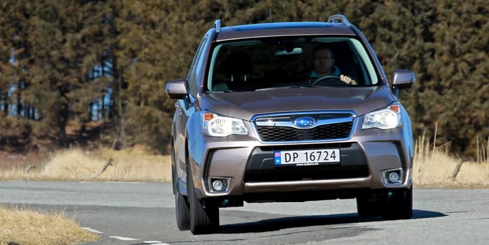 BARKEST: Vi synes Subaru Forester er blitt den barskeste i denne klassen. FOTO: Petter Handeland