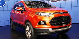 The all-new Ford EcoSport takes the limelight in its dazzling Molten Orange hue. (1/4/2012)