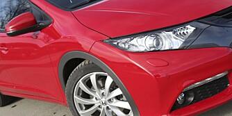 OUTSIDER: Honda Civic figurerer ikke høyt på salgsstatistikken, men er bra nok for en plass på vår topp ti liste.
