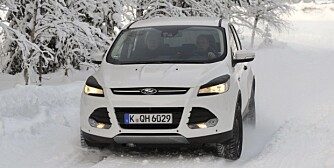 Ford Kuga's Intelligent All Wheel Drive system provides excellent traction in snow and ice. (12/18/12)