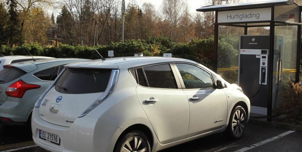 FORDEL LEAF: Nissan Leaf kan hurtiglades. Det kan ikke Ford Focus Electric. FOTO: Petter Handeland