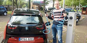 HEVER LISTA: Vi Menn Bil TopGears journalist har vært i Amsterdam og prøvekjørt BMWs første elbil. Han mener bilen hever lista for kompakte elbiler. FOTO: Produsent