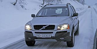 VOLVO XC90: Parkeringsbremsen holder ikke. FOTO: Terje Bjørnsen