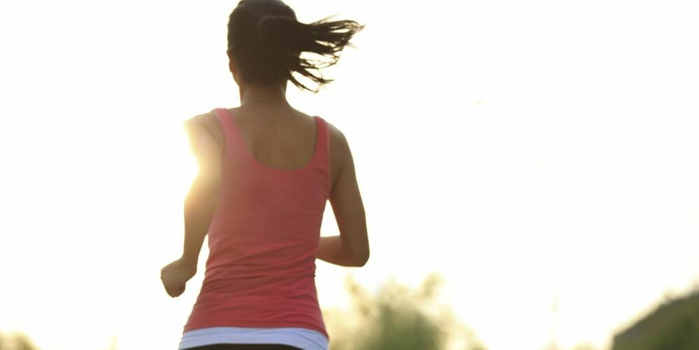 LYKKEHORMONET: Forskning viser at trening har positiv effekt på lykken fordi det blant annet frigjør lykkehormonet endorfin og styrker selvfølelsen vår.