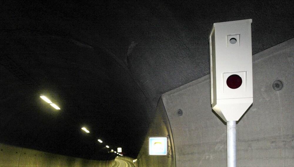 FLEST TATT: Fotoboksen i Rælingstunnelen mot Lillestrøm knep flest fartssyndere i 2011, og ble dermed landets mest innbringende ATK-strekning. (Illustrasjonsfoto: Knut Falch/Scanpix)