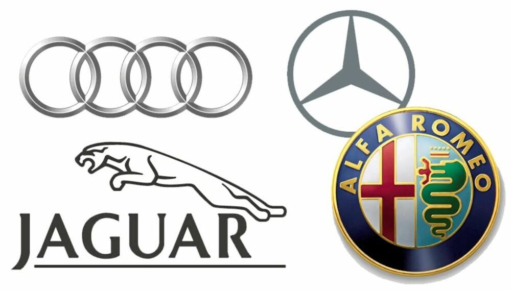 PRESTISJEBILER: Merker som Jaguar, Audi og Mercedes er representert på lista over bilene med dårligst kvalitet.