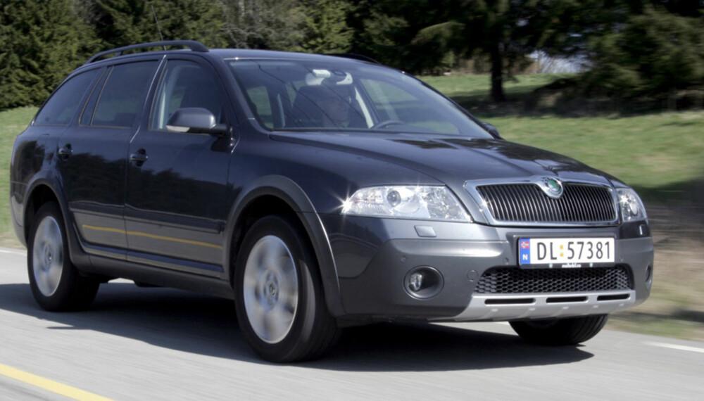 KJØRER BRA: Skoda Octavia Scout 2007-modell