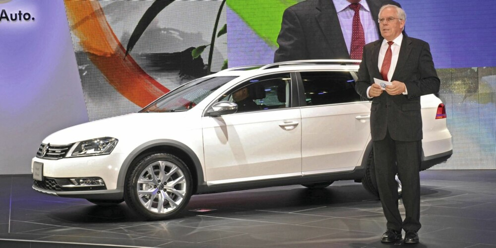 TOKYO: VW Passat Alltrack har kun vært vist frem en gang . Det skjedde på bilutstillingen i Tokyo før jul.