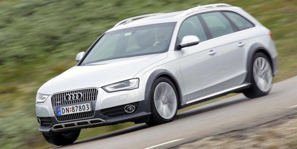 VINNER: Audi A4 Allroad er testens klar vinner: FOTO: Petter Handeland