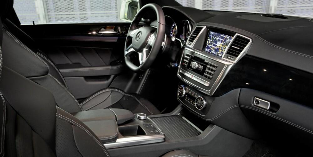 DISKRE AMG: Oversiktelig og komfortabelt førermiljø.