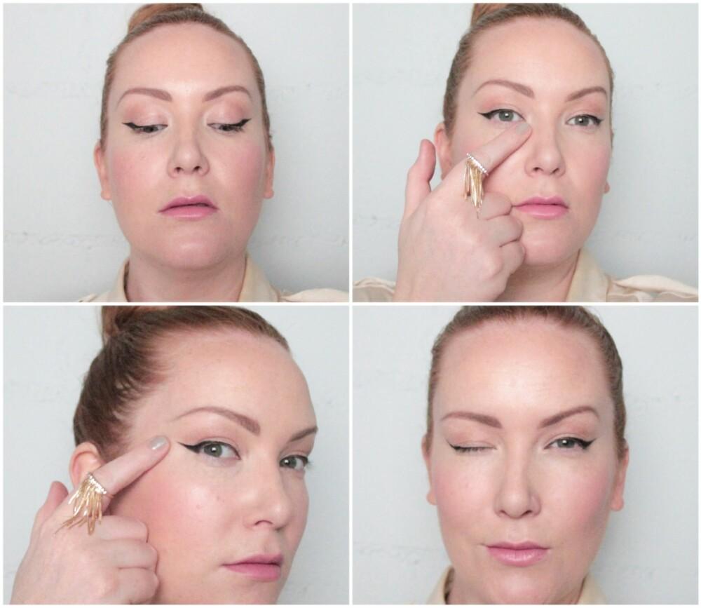 LANG EYELINER: Den viktigste ingrediensen i Lauren Conrad sin sminkelook, er en lang og tydelig flytende eyeliner. Hun liker å legge den hele veien, fra indre øyekrok og opp og ut i en ving i retning av rett over øret. Hvis du har lite plass på nedre delen av øyelokket, er det viktig med en så tynn linje som mulig.