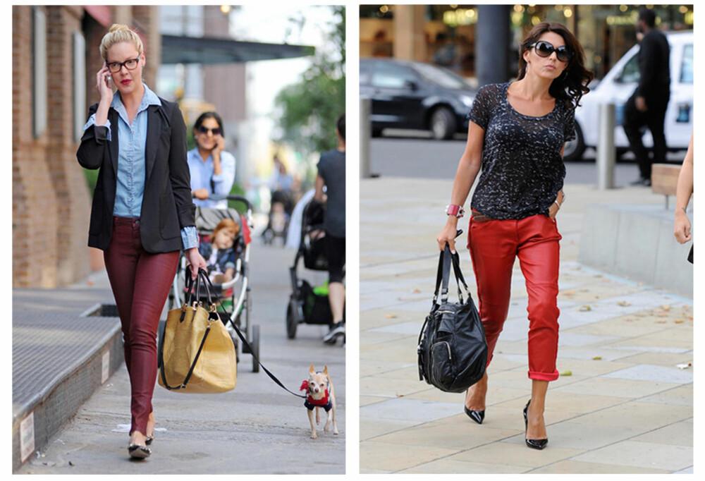 FARGER: Skinnbuksa trenger ikke å være sort. Nyanser av rødt er spesielt populært.