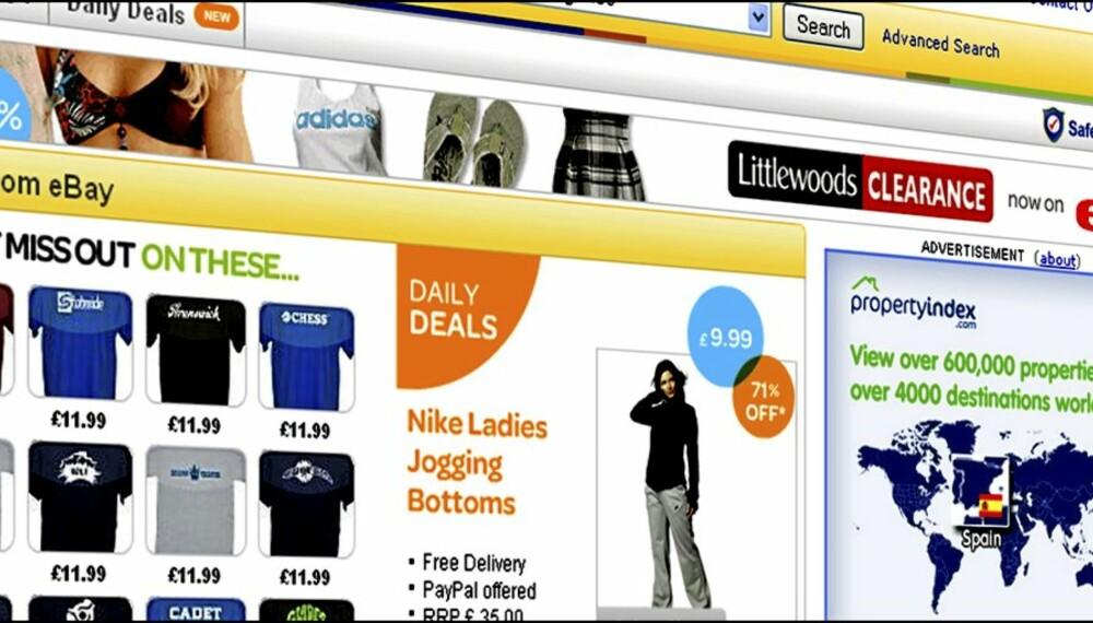 TOLLMUR: Handler du for over 200 kroner fra utenlandsk nettsted som her på Ebay.co.uk , må du betalte moms i tillegg. Det slipper svenskene, så lenge nettstedet er i et EU-land.
