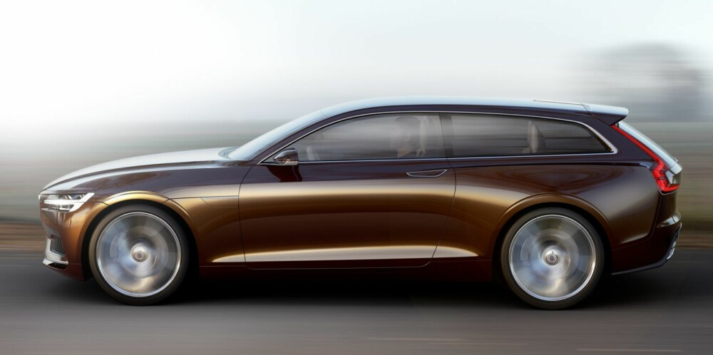 OVERBITT: Helt i fronten har designstudien overheng. Som regelen er, har konseptbilen fått store hjul. FOTO: Volvo