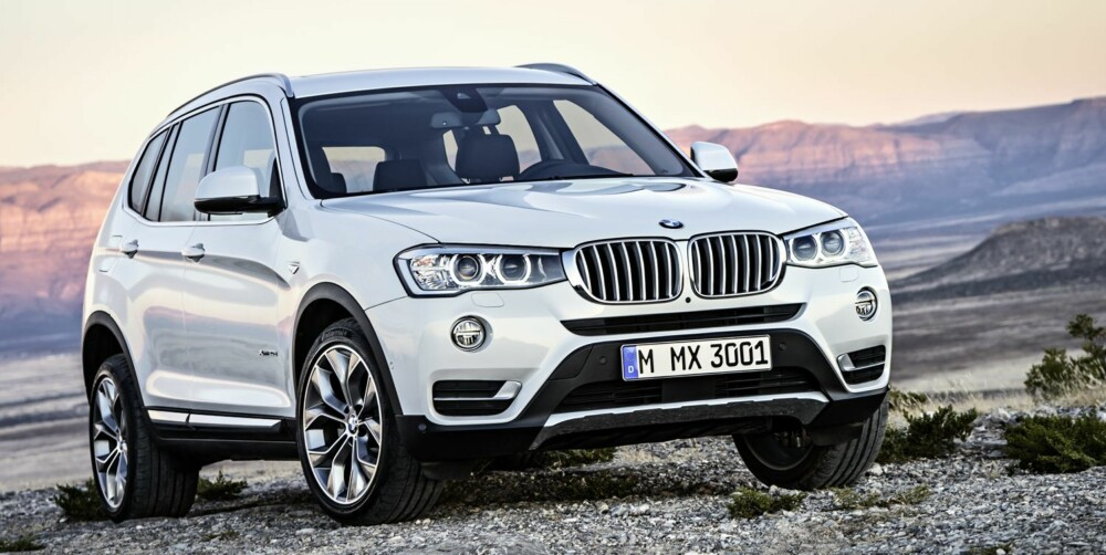 GLIS: Nye detaljer i fronten er viktig i midtlivsoppgraderingen av BMW X3. Men aller viktigst er ny, moderne toliters dieselmotor.