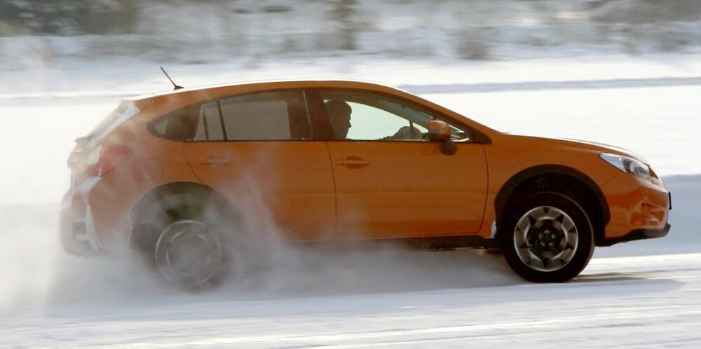 VINTERMESTER: Når det gjelder fremkommelighet er det antakelig få som slår Subaru XV i denne prisklassen. FOTO: Egil Nordlien, HM Foto