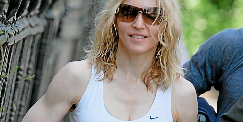 HEKTA PÅ TRENING: Madonna kjemper knallhardt for å beholde utseendet sitt.