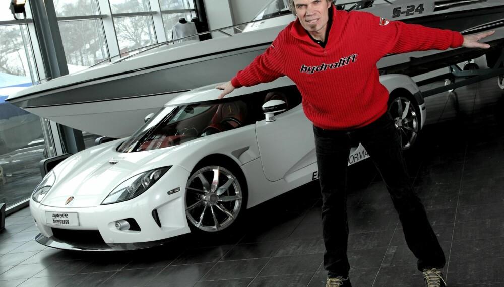 Fredrikstad-mannen Bård Eker står bak Koenigsegg-bilene og Hydrolift-båtene. Han er en av Norges mest fremtredende industridesignere.