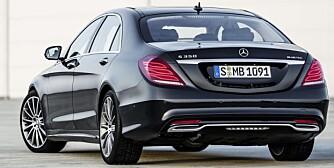 SMEKRERE: Det er mer dynamikk over nyheter fra Mercedes for tida. Det gjelder også S-klasse, der en faktisk kan kjenne igjen elementer fra den mer sportslige CLS. FOTO: Mercedes-Benz