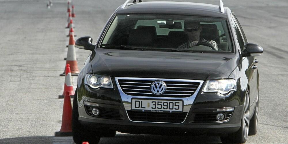 GJENNOMSNITTLIG: VW Passat ligger på middels nivå i sin bilklasse hva gjelder feil og mangler. FOTO: Egil Nordlien, HM Foto
