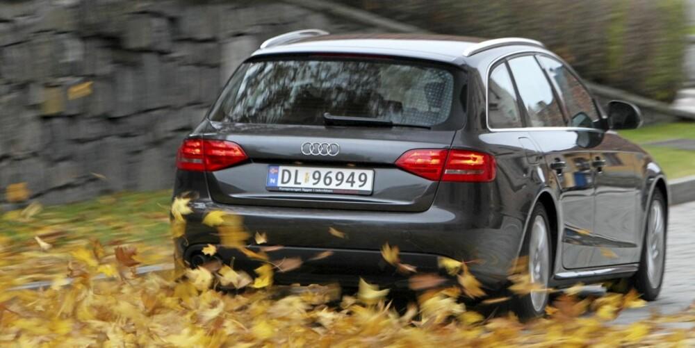 MØNSTERBIL: I flere år på rad har Audi A4 vært blant bilen med færrest feil i Dekras kontroller. FOTO: Egil Nordlien