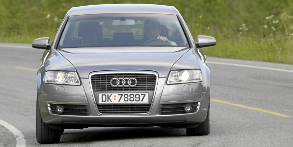 SPORTSLIG: Audi A6 av forrige modellserie koster eieren en hel del penger, men bileierne mener det er verdt det. FOTO: Terje Bjørnsen