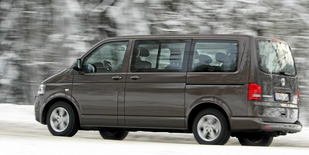 STØRST: Volkswagen Caravelle/Multivan er den bilen du kan kjøpe med aller størst bagasjeplass og firehjulsdrift.