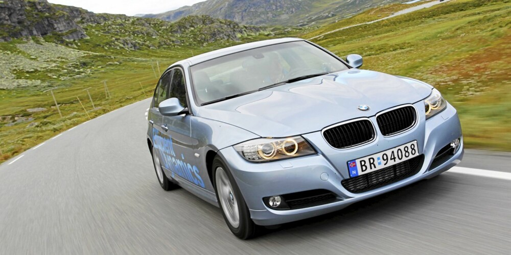 STERK MOTOR: BMW 320d, 163 hk: 0,47 l/mil. FOTO: Terje Bjørnsen