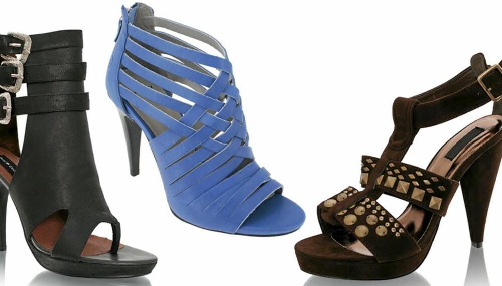 FRA VENSTRE: Friis og Co (kr 1299), Bronx (kr 998), Nelly Shoes (kr 349).