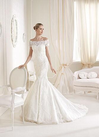 PRØV ULIKE FASONGER: Det er lurt å prøve brudekjoler i forskjellige fasonger. Noen ganger blir du overrasket over at du kler en fasong du absolutt ikke hadde sett for deg at du skulle ende opp med. Idalina fra La Sposa.
