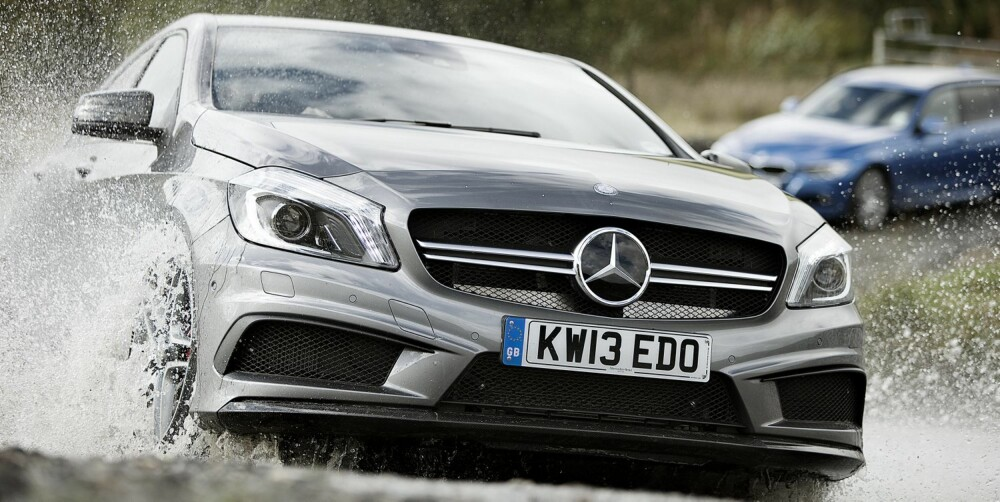 REN RÅSKAP: Mercedes A45 AMG.