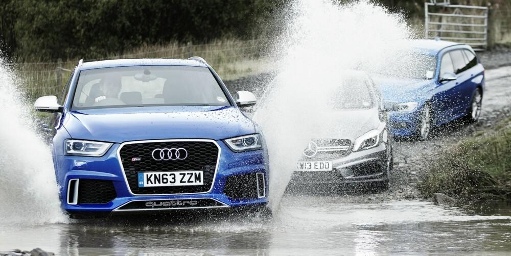 SPLASH: Jeg synes ikke Audi RS Q3 er noe vellykket kompromiss.