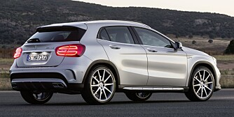 LYNRASK: Mercedes GLA 45 AMG skal greie 0-100 km/t på 4,8 sekunder. FOTO: Mercedes-Benz