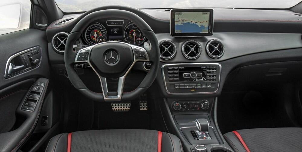 SOBERT: Kjent Mercedes-førermiljø med en touch av AMG.