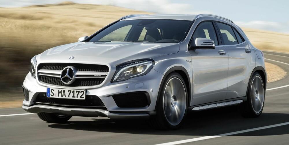 NISJE-FEST: Mercedes i Norge omtaler Mercedes GLA som en SUV. Da er i tilfelle AMG-versjonen blant de råeste SUV-ene du får.
