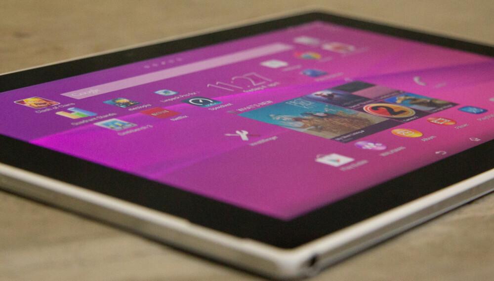 VANNTETT: Xperia Z2 Tablet er på mer enn en måte et vanntett nettbrett fra Sony.