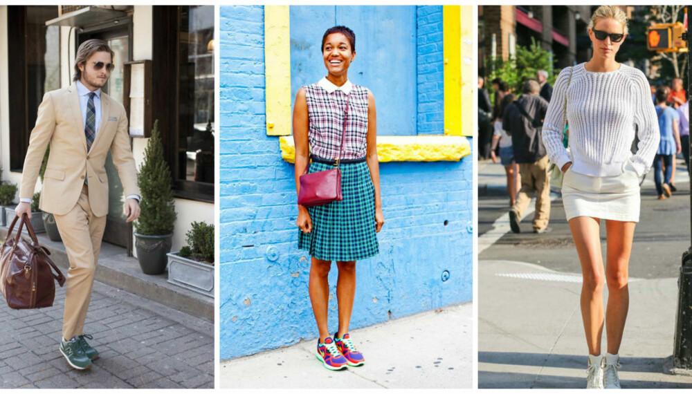 HEKTA PÅ JOGGESKO: Joggesko er dette årets desidert største trend, både blant supermodeller, finansmenn og studenter. - Alle vil ha joggesko, sier Ami McCarthy, daglig leder ved en av Londons mest populære skobutikker.