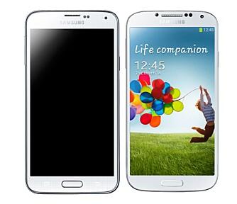 NY VS. GAMMEL: Det er ikke veldig stor forskjell på Galaxy S5 og Galaxy S4. Ser du hvilken telefon som er den nye?