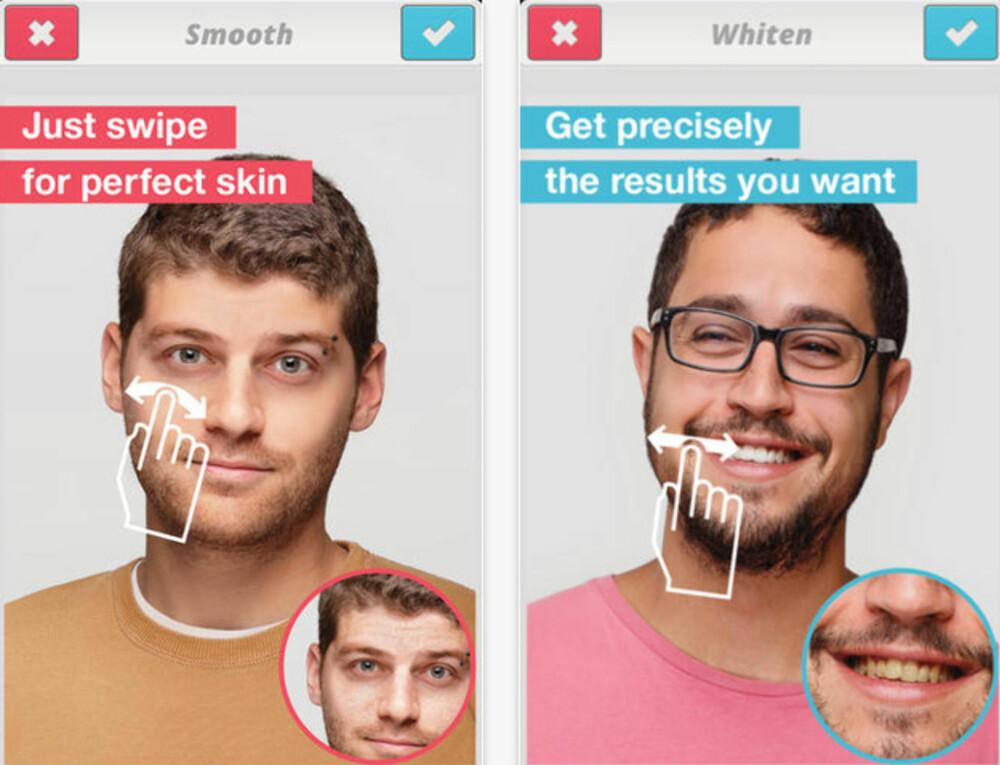 """SÅ LETT SOM EN PLETT: Skjønnhets-appene gjør det enkelt for alle å """"jukse"""" seg til både hvitere tenner og høyere kinnbein."""