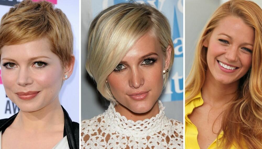 POPULÆRT HÅR: Disse tre hårklippene er blant verdens mest populære frisyrer.